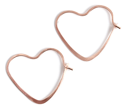 3/4 Inch Heart Shape Hoop Earrings - Melissa Joy Manning Jewelry