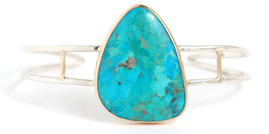 Mohave Turquoise Cuff - Melissa Joy Manning Jewelry