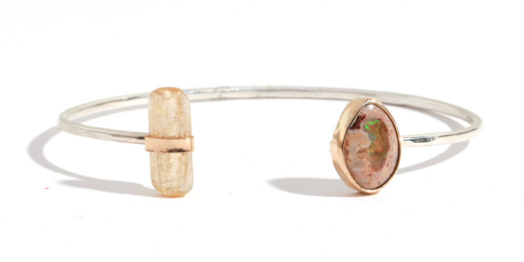 Jelly Opal and Imperial Topaz Cuff