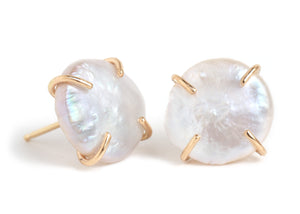 American Pearl Stud Earrings