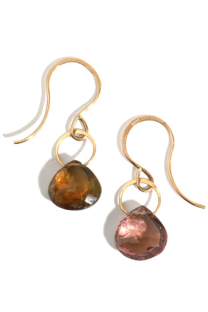Tourmaline Mismatched Drop Earrings - Melissa Joy Manning Jewelry