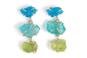 Kornerupine, Apatite, and Tremolite Drop Earrings - Melissa Joy Manning Jewelry