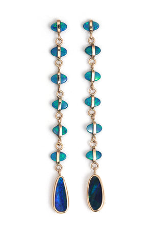 Seven Drop Opal Ladder Earrings - Melissa Joy Manning Jewelry