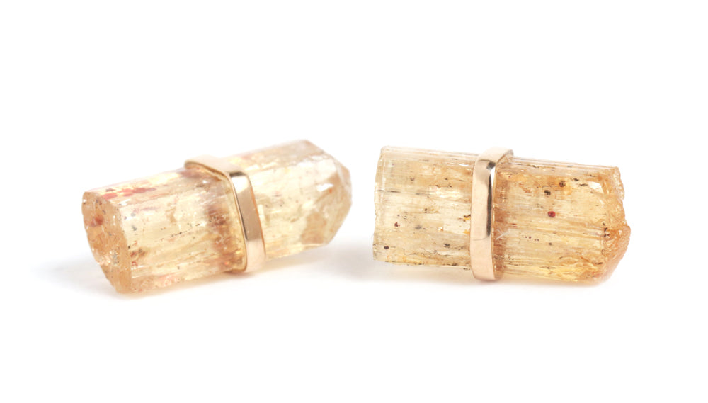 Imperial Topaz Stud Earrings - Melissa Joy Manning Jewelry