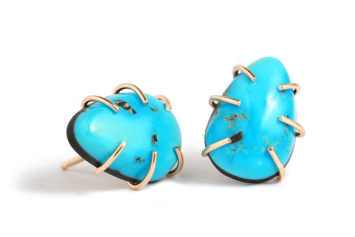 Morenci Turquoise Studs