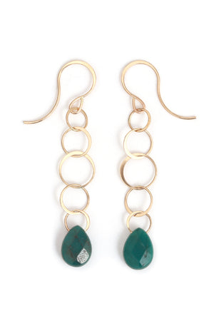 Turquoise Lightweight Chain Drop Earrings