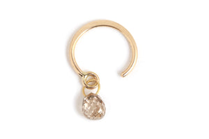 Champagne Diamond Drop Hug - Half Pair - Melissa Joy Manning Jewelry