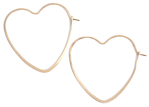 1.25 Inch Heart Shape Hoop Earrings - Melissa Joy Manning Jewelry