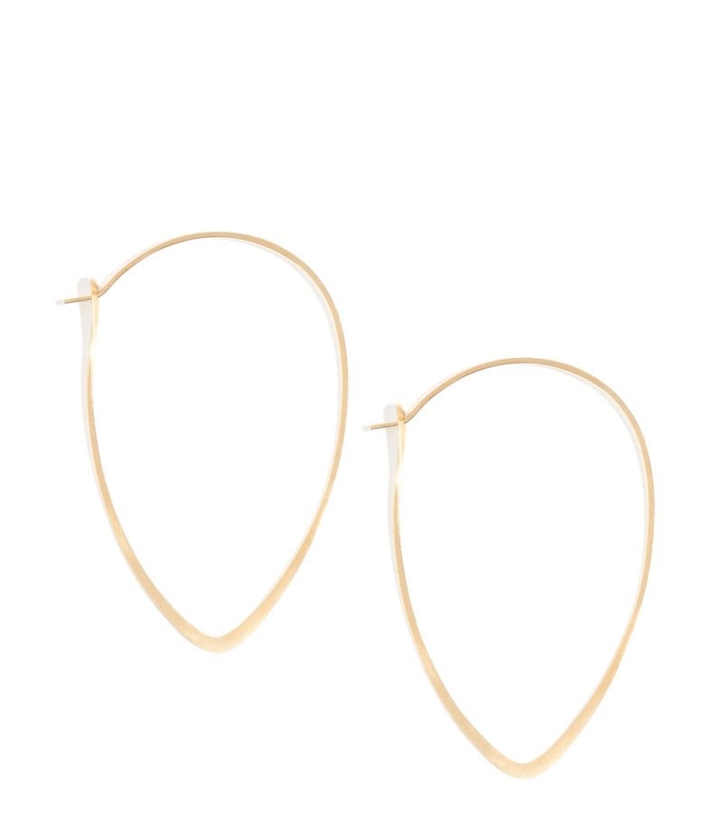 1.5 Inch Leaf Hoops - Melissa Joy Manning Jewelry