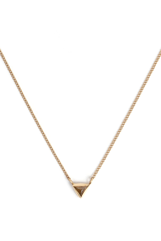 Triangular Diamond Necklace