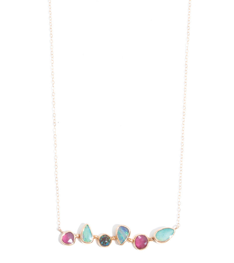 Ruby and Opal Necklace
