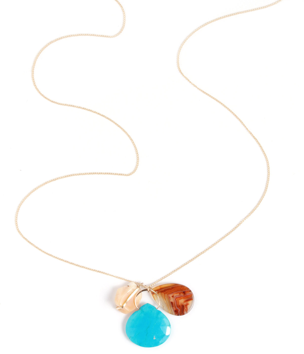 Opal, Turquoise, and Agate Pendant Necklace - Melissa Joy Manning Jewelry