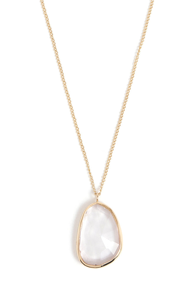 Freeform Rose Quartz Necklace - Melissa Joy Manning Jewelry