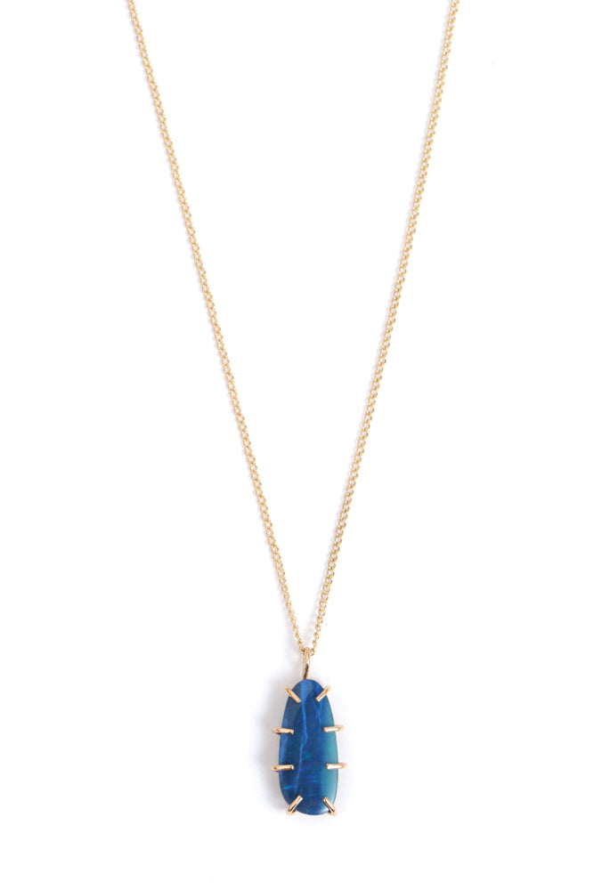 Prong Set Opal Necklace