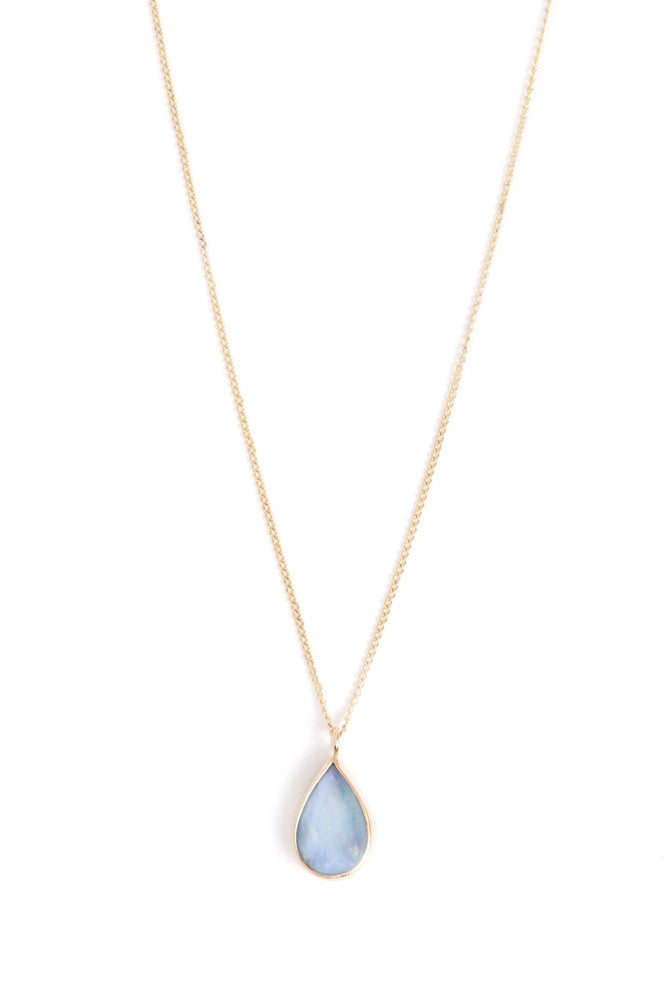 Bezel Set Opal Necklace - Melissa Joy Manning Jewelry