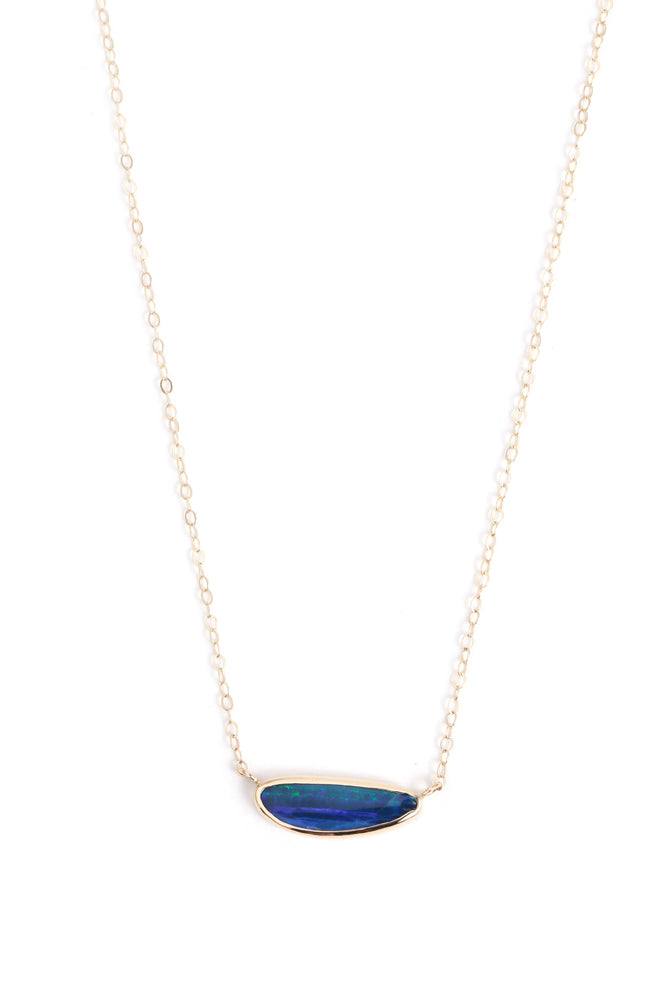 Horizontal Set Opal Necklace - Melissa Joy Manning Jewelry