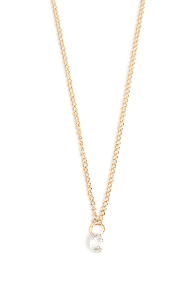 Diamond Drop Necklace - Melissa Joy Manning Jewelry