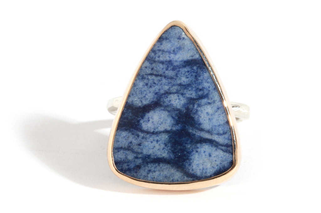 Triangular Dumortierite Ring - Melissa Joy Manning Jewelry