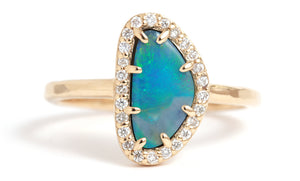 Micropavé Diamond and Opal Ring - Melissa Joy Manning Jewelry
