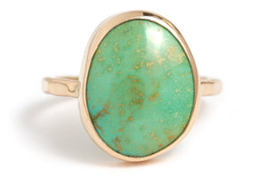 Freeform Turquoise Ring - Melissa Joy Manning Jewelry