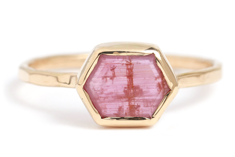 Hexagonal Pink Sapphire Ring - Melissa Joy Manning Jewelry