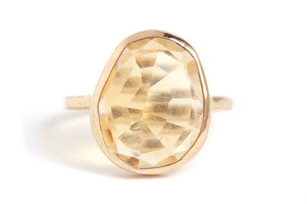 Freeform Citrine Ring - Melissa Joy Manning Jewelry