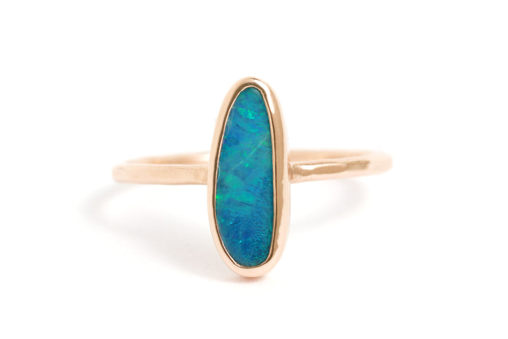 Vertical Set Opal Ring - Melissa Joy Manning Jewelry