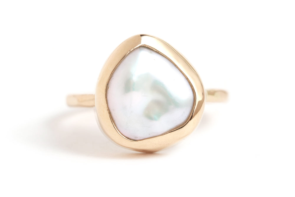 Biwa Pearl Ring - Melissa Joy Manning Jewelry