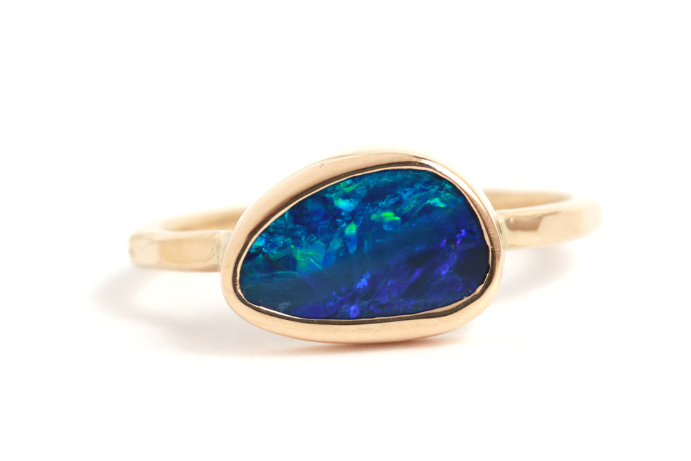 Horizontal Set Australian Opal Ring - Melissa Joy Manning Jewelry