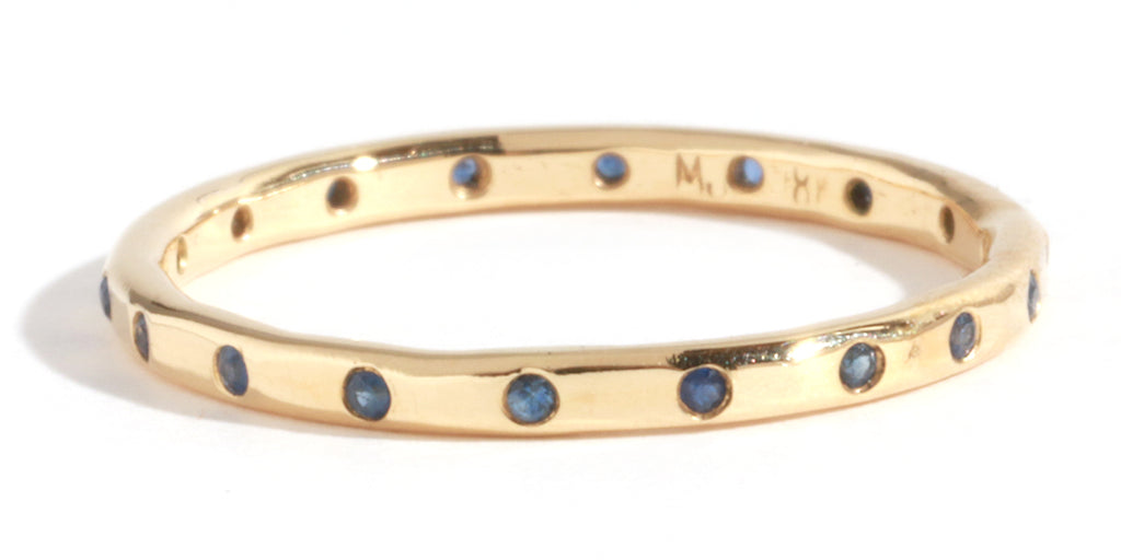 18 Blue Sapphire Band - 14 Karat Yellow Gold - Melissa Joy Manning Jewelry