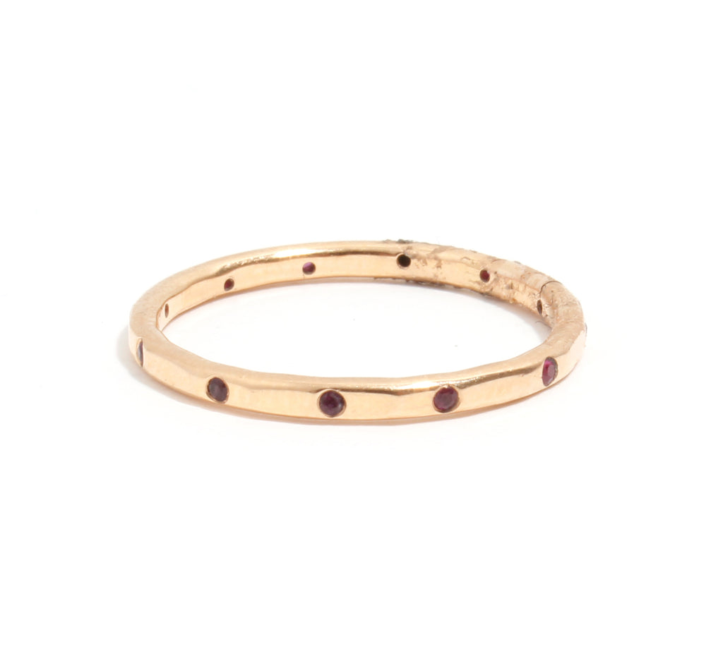 12 Ruby Band - 14 Karat Yellow Gold
