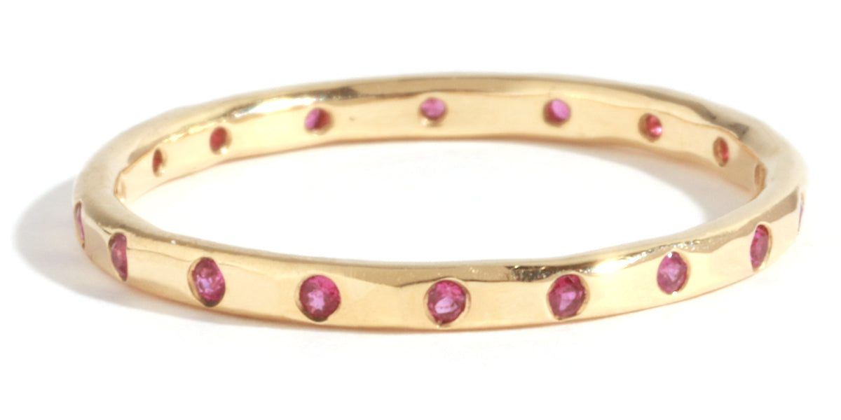 18 Ruby Band - Melissa Joy Manning Jewelry