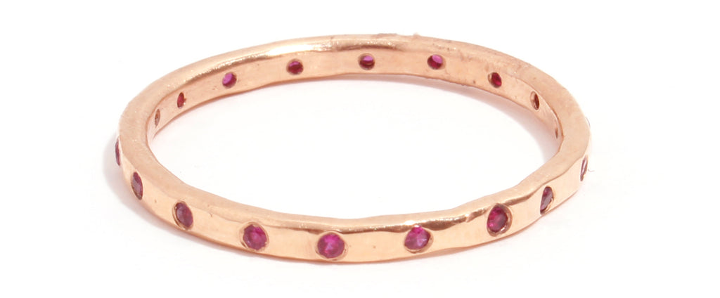 18 Ruby Band - 18 Karat Rose Gold - Melissa Joy Manning Jewelry