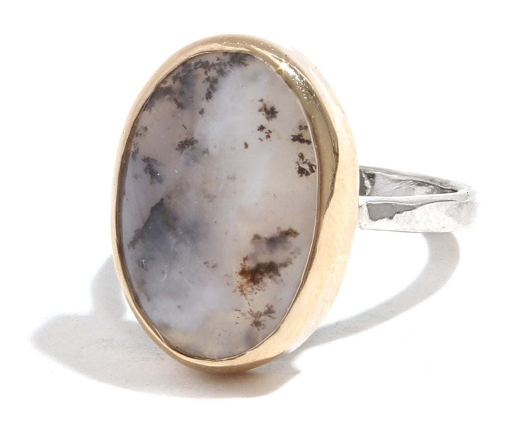Dendritic Opal Ring - Melissa Joy Manning Jewelry