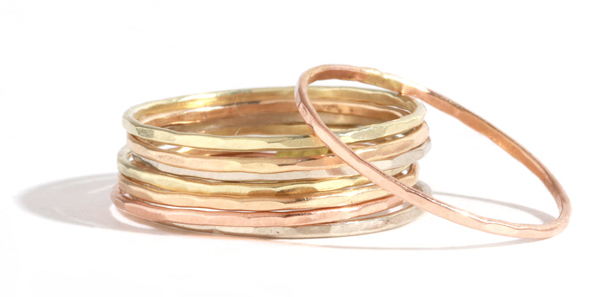 Set of 8 stacking rings - Melissa Joy Manning Jewelry