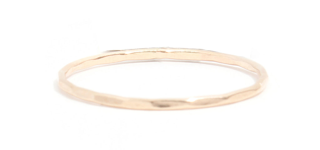 Thin Single Stacking Ring - Melissa Joy Manning Jewelry