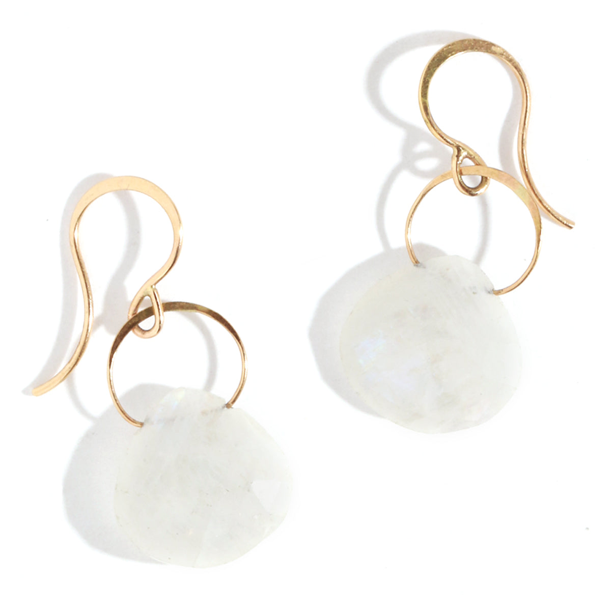 Moonstone single drop earrings - Melissa Joy Manning Jewelry
