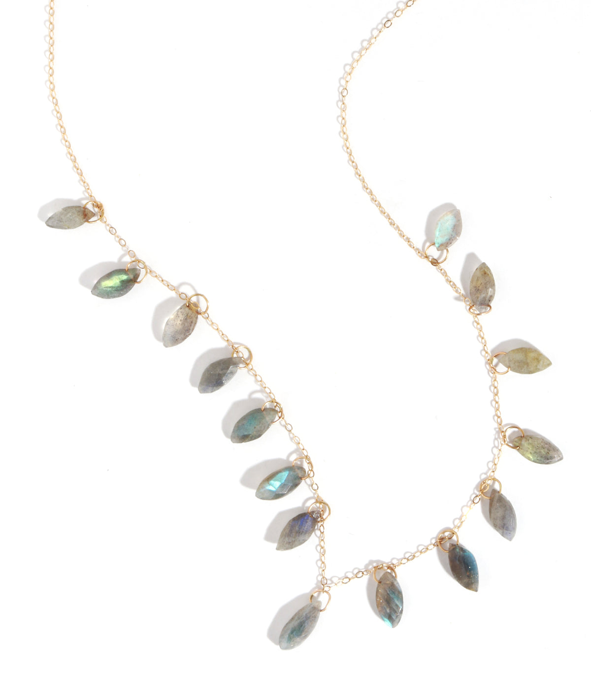 15 stone labradorite necklace - Melissa Joy Manning Jewelry
