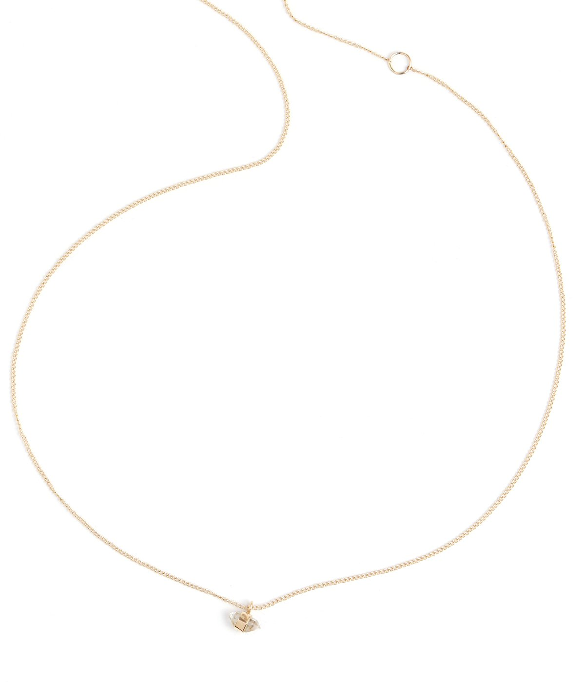 Single Drop Mini Herkimer Necklace - Melissa Joy Manning Jewelry