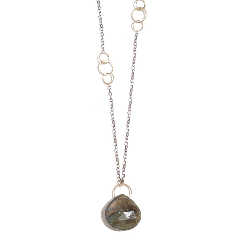 Labradorite Single Drop Necklace - Melissa Joy Manning Jewelry
