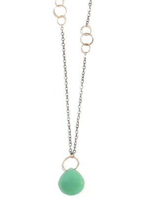 Chrysoprase single drop necklace - Melissa Joy Manning Jewelry