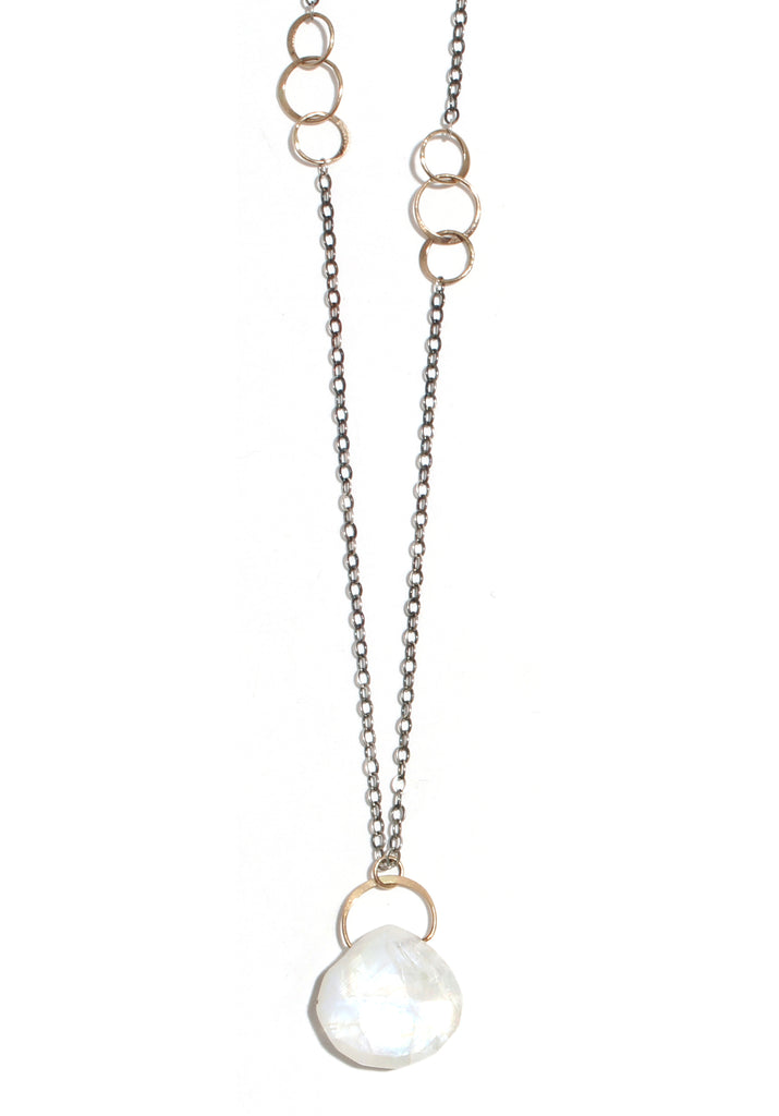 Moonstone single drop necklace - Melissa Joy Manning Jewelry