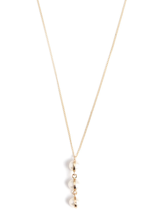 Three Drop Pearl Drop Necklace - Melissa Joy Manning Jewelry