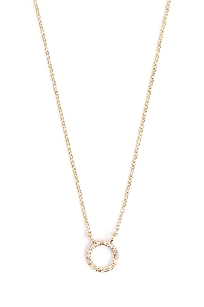 Diamond Pave Circle Necklace - Melissa Joy Manning Jewelry