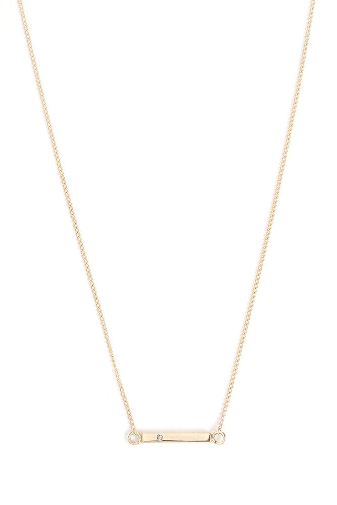 Diamond Studded Bar Necklace - Melissa Joy Manning Jewelry