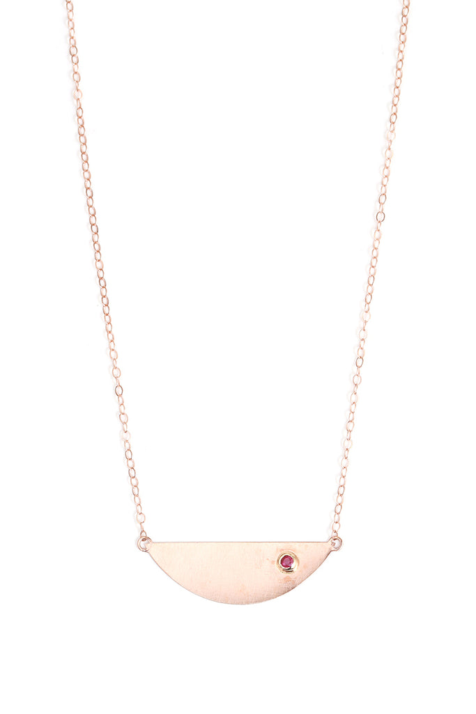 Ruby Semi Circle Necklace - Melissa Joy Manning Jewelry
