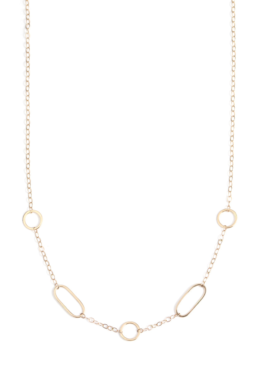 Multi shape chain necklace