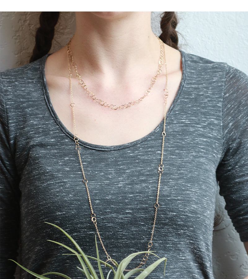 Mini link handmade chain necklace - Melissa Joy Manning Jewelry