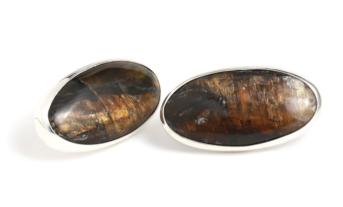 Pietersite Stud Earrings