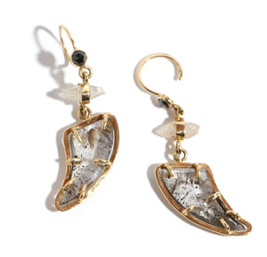 Diamond and Sapphire Drop Earrings - Melissa Joy Manning Jewelry